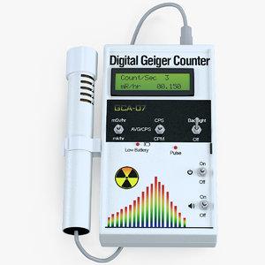 digital geiger counter external model