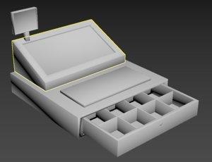 cash register caja registradora 3D model