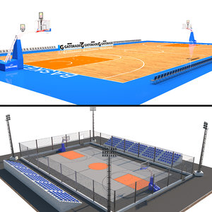 basketball court arena 3D model
