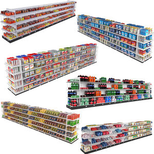 supermarket shelving 3D model