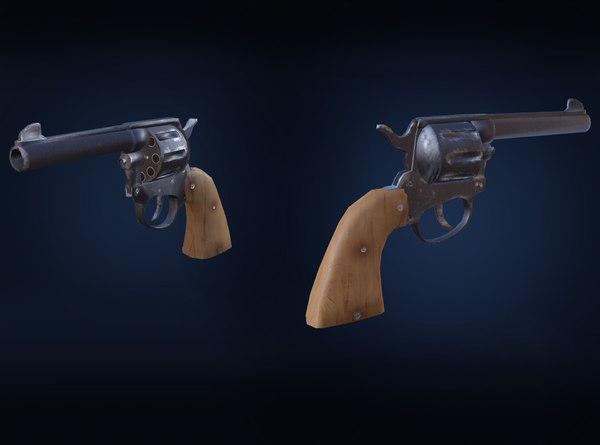 3D revolver pbr