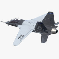 3D boeing t-x advanced pilot