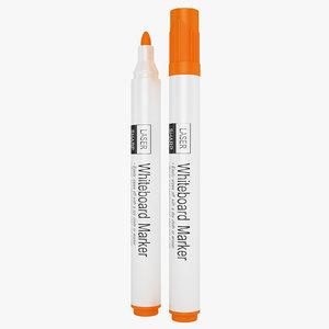 3D lasersharp whiteboard markers model