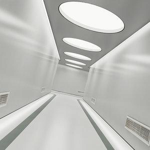 sci-fi corridor 2 3D model