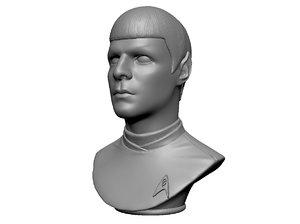 spock zachary quinto 3D model