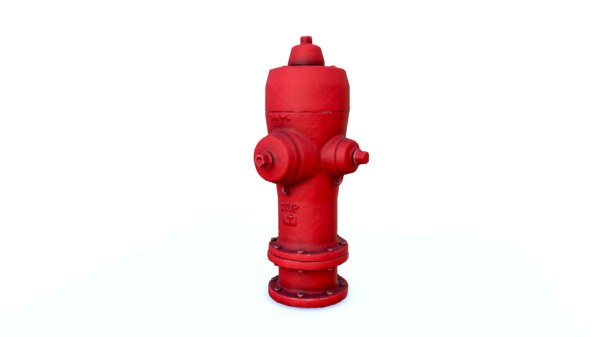 3D model low-poly hydrant