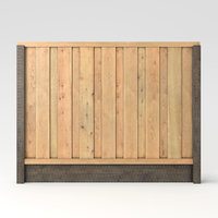 3D american wood fence panels
