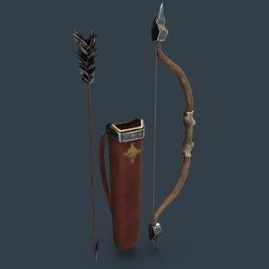dwarf bow arrows 3D