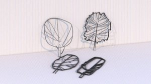 3D conceptual architectural trees