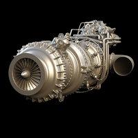 3D engine turbine model