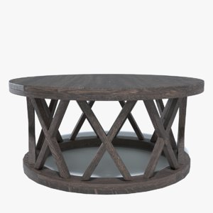 wooden coffee table 3D