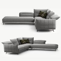 3D ditre italia line sofa model