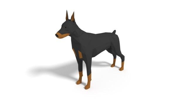 doberman dog model