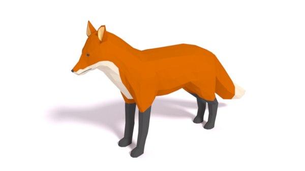 3D cartoon fox