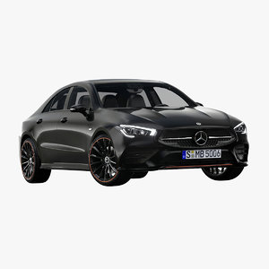 2020 mercedes-benz cla 3D