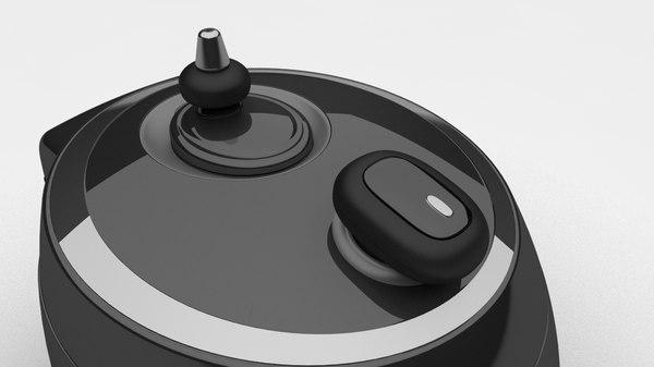 kitchen utensils pressure cooker 3D model