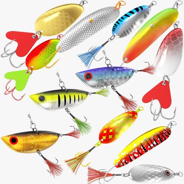 fishing spoons 3D model