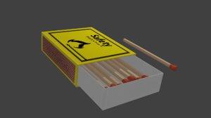 matchbox matches 3D model