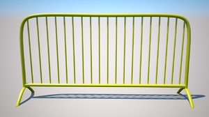 yellow barrier 3D model