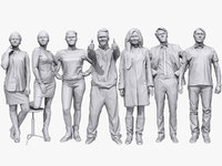 3D casual characters human
