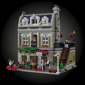 parisian restaurant paris lego 3D
