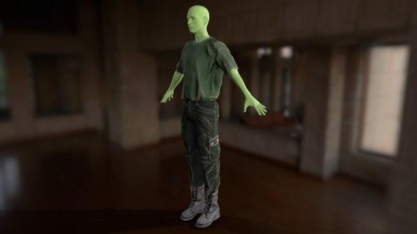3D clothes apparel wardrobe model