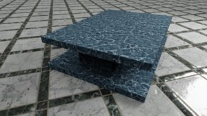 3D marble gold table