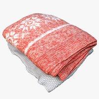 pile blankets 3D model
