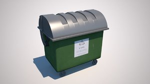 3D model rubbish dumpster