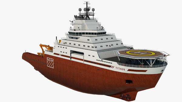 3D icebreaker titan vessel cargo ship