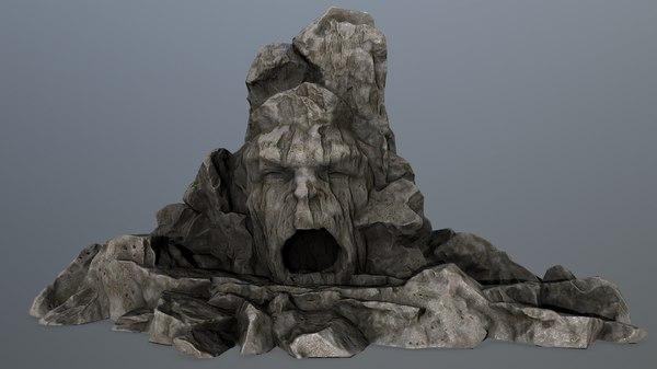 3D model rock gate