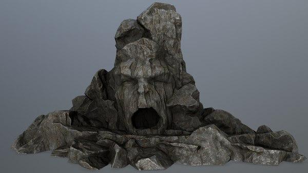 3D rock gate