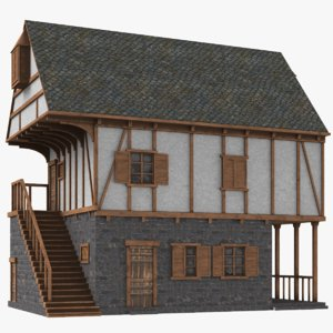 real medieval house 3D