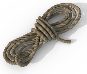 3D model rope - pbr ready