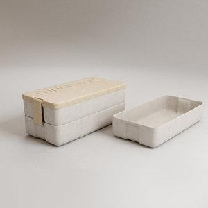 3D wheat lunch box minimalist