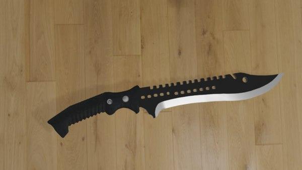 3D knife black