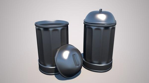 trash rubbish bin model