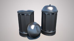 trash rubbish bin model