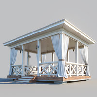 wooden arbor 3D model