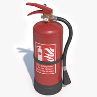 3D extinguisher games pbr model