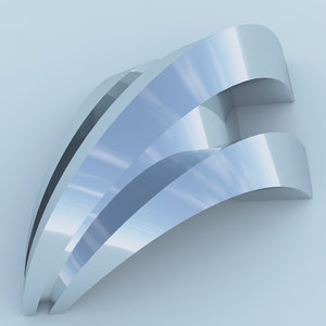futuristic arc building architecture 3D model