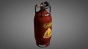 worn gas tank 3D model