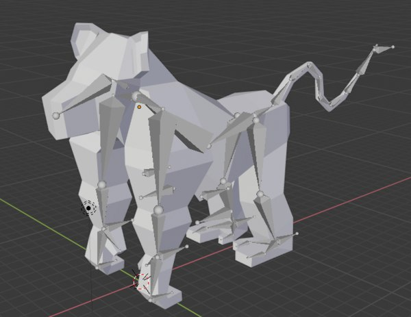 3D model monkey animate