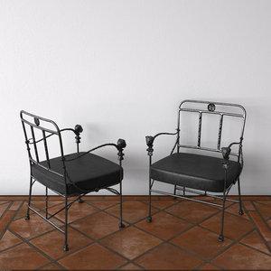 giacometti chair 3D