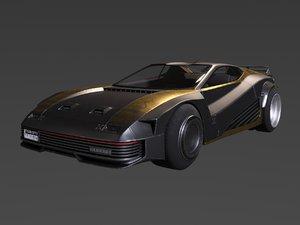 3D car cyberpunk 2077