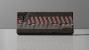 barrier block 3D model