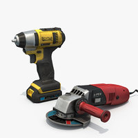 3D drill machine angle model