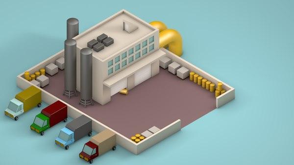 factory designed 3D model