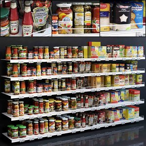 3D model showcase 005 canned food