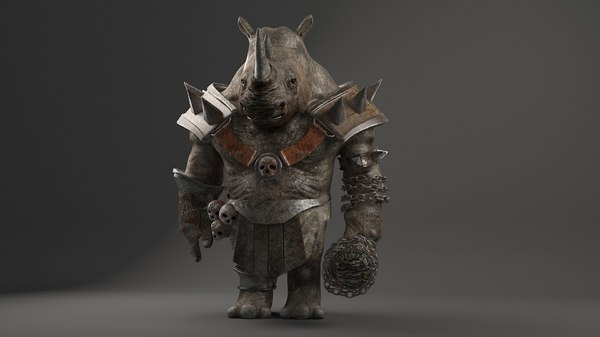 rhino warrior 2 character 3D model